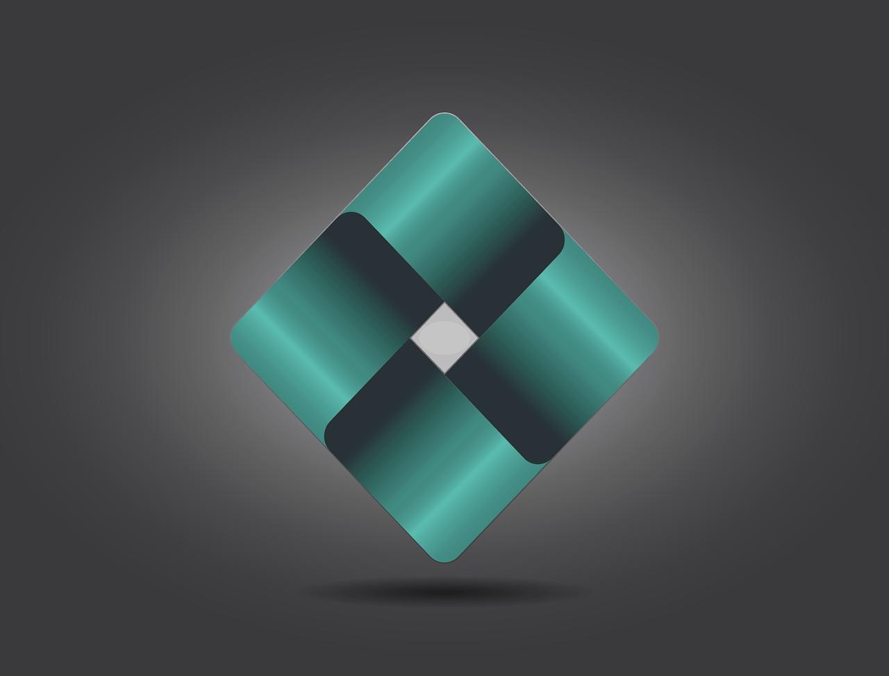 לוגו בצורת ריבוע